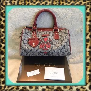 👑AUTHENTIC Gucci Tattoo Heart Mini Boston Bag